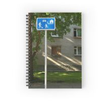 Residential zones traffic sign Spiral Notebook