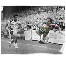 Leicester Tigers - Alesana Tuilagi Poster