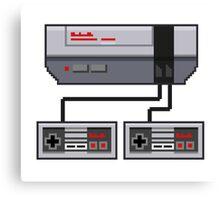 NES Pixel Art  Canvas Print