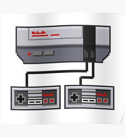 NES Pixel Art  Poster