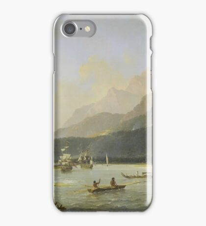 William Hodges, The Resolution and Adventure in Matavai Bay  iPhone Case/Skin