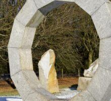 Millenium stone sculptures, Longleat, Wiltshire, UK Sticker