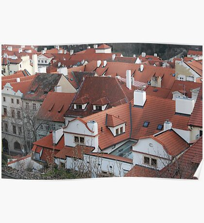 Prague Rooftops Poster
