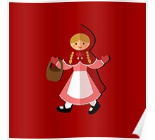 Cute Red Riding Hood Poster