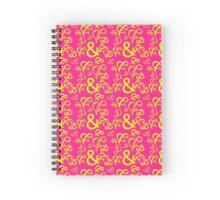 Ampersand - Yellow Magenta Spiral Notebook