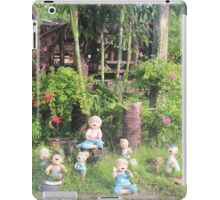 laughing dolls sitting in Thailand grass iPad Case/Skin