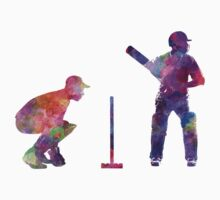 Cricket player silhouette Baby Tee