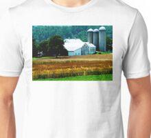 Farm With White Silos Unisex T-Shirt