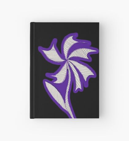 Purple Flower Hardcover Journal