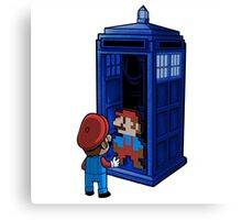 Mario Who Shirt - Dr Who Canvas Print