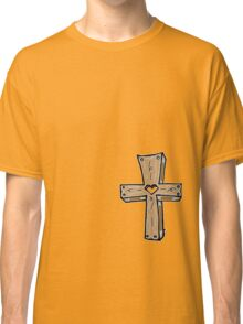 Wooden Cross - RED Classic T-Shirt