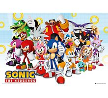 Sonic Characters Photographic Print