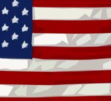 USA flag, block colour design (United States of America) Sticker