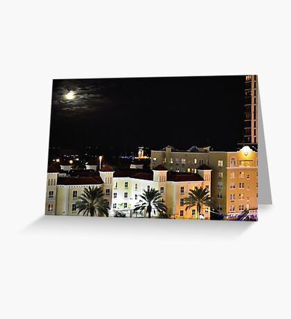Full Moon Over St Petersburg 001 Greeting Card