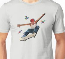 Low Poly Skater Unisex T-Shirt