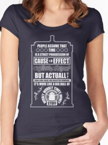 Doctor Who - Blink - People assume that time is a strict progression of cause to effect Women's Fitted Scoop T-Shirt