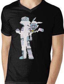 reversed ash - Pokemon yellow Mens V-Neck T-Shirt