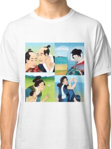 The Hokusai Family and The Hiroshige Family On Vacation Classic T-Shirt