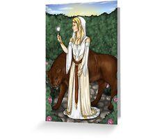 LOTR - White rose Greeting Card