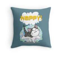 Happy kitten Throw Pillow
