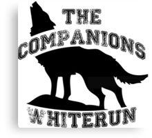 The companions of whiterun - Black Canvas Print