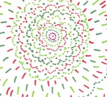 Mandala Green Sticker
