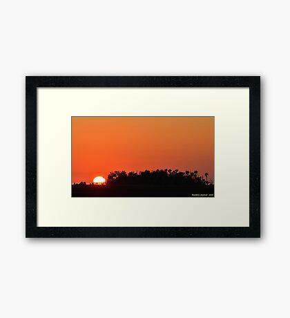 Brilliant Sunset Framed Print