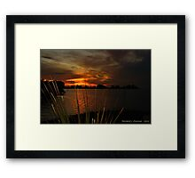 Fiery Christmas Sunset Framed Print