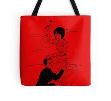 Toshio Saeki art Red shirt  Tote Bag