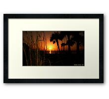 Grassy Sunset Framed Print