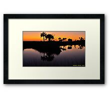 Intense Reflections Framed Print