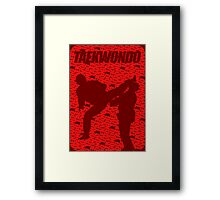 Taekwondo thypo - Korean Martial Art Framed Print