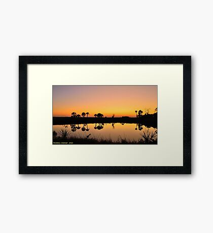 Reflections Of Golden After Glow Framed Print
