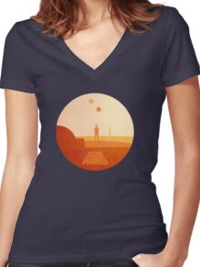 Star Wars - Hope Women's Fitted V-Neck T-Shirt