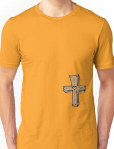 Wooden Cross - BLUE! Unisex T-Shirt