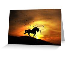 Unicorn Sunrise Greeting Card