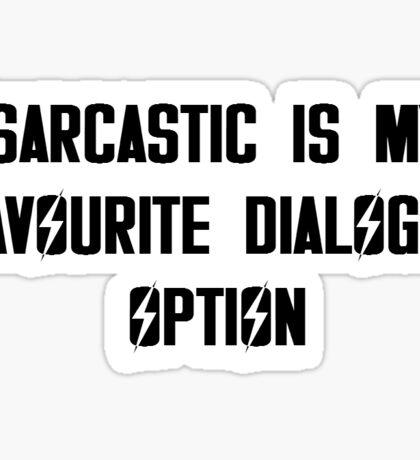 Sarcastic Sticker