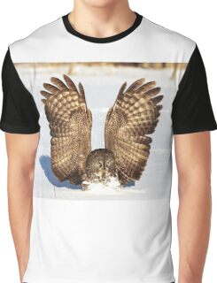 Caught - Great Grey Owl Graphic T-Shirt