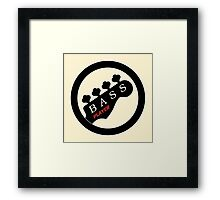 Bass Player Ring Framed Print