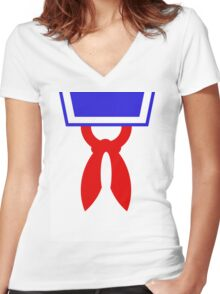 Mr Stay Puft Women's Fitted V-Neck T-Shirt