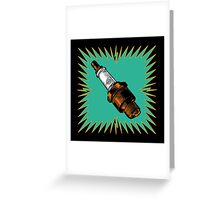 Sparkplug - turquoise & black Greeting Card