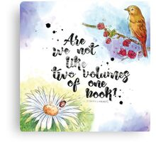 Two Volumes of One Book Canvas Print
