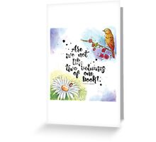 Two Volumes of One Book Greeting Card