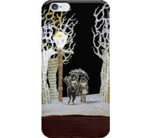 Tumnus and Lucy Narnia book sculpture iPhone Case/Skin