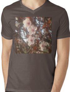 Spring Pink Blossoms Mens V-Neck T-Shirt