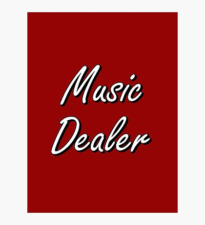 Music Dealer Photographic Print