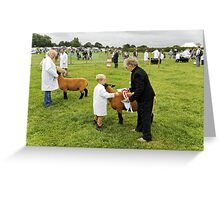 Agricultural Show sheep competition Greeting Card