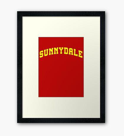 SUNNYDALE - Buffy Movie Framed Print