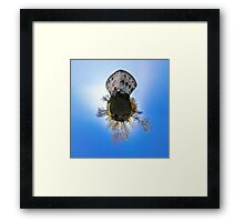 Medieval castle Spesbourg little planet. Corvature of space effect. Touristic concept. Framed Print