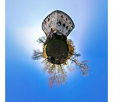 Medieval castle Spesbourg little planet. Corvature of space effect. Touristic concept. Photographic Print